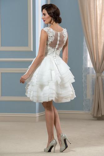 Vestido de novia Informal Verano Corte-A Oscilación Pura espalda Organza - Página 3
