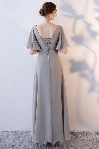 Vestido de dama de honor Natural Corte-A Blusa plisada Escote en V Sin mangas - Página 14