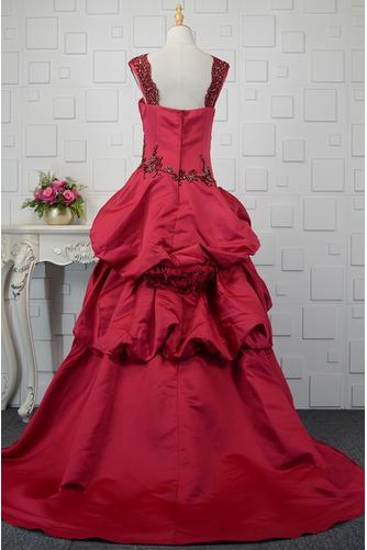 Vestido de quinceañeras Cola Barriba Corte-A Formal Plisado Triángulo Invertido - Página 3