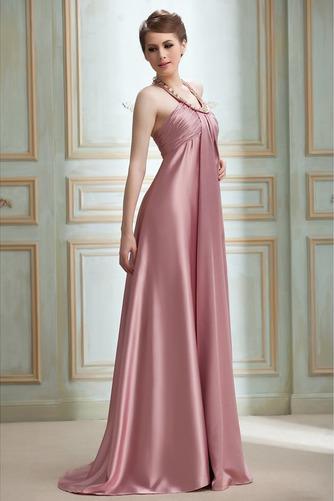 Vestido de noche Cremallera Imperio Joya primavera Plisado Satén Elástico - Página 3
