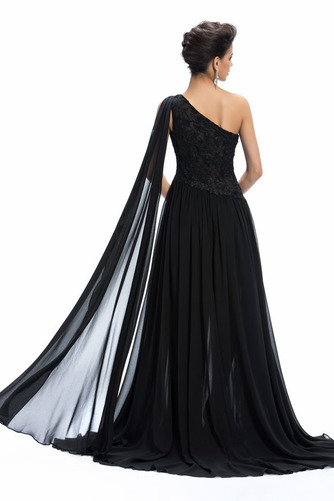 Vestido de noche Gasa Natural Elegante Reloj de Arena Corte-A Dobladillos - Página 2