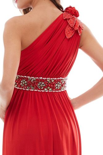 Vestido de fiesta Elegante Plisado Natural Corte-A Hasta el Tobillo Espalda medio descubierto - Página 6