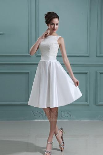 Vestido de novia Playa Oscilación Apliques Natural Corte-A Encaje - Página 3