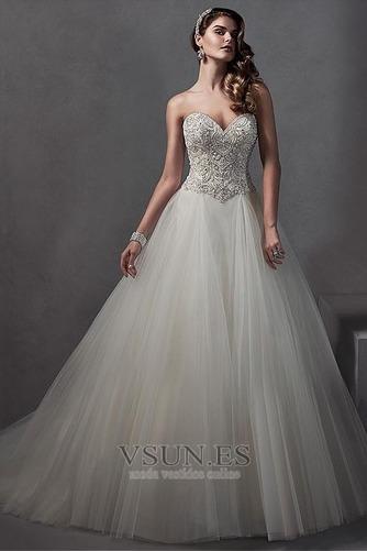 Vestido de novia Falta primavera Sala Sin mangas Apliques vendimia - Página 1