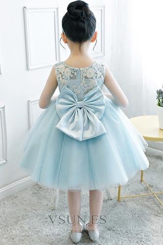 Vestido niña ceremonia Natural Joya Otoño Hasta la Rodilla Lazos Arco Acentuado - Página 2