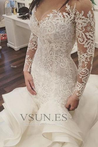 Vestido de novia Corte Sirena Pura espalda Iglesia Clasicos Botón Pomposo - Página 2