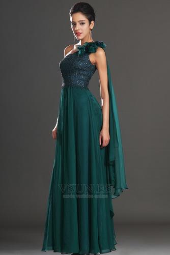 Vestido de noche Elegante Encaje Un sólo hombro Rosetón Acentuado Espalda medio descubierto - Página 5