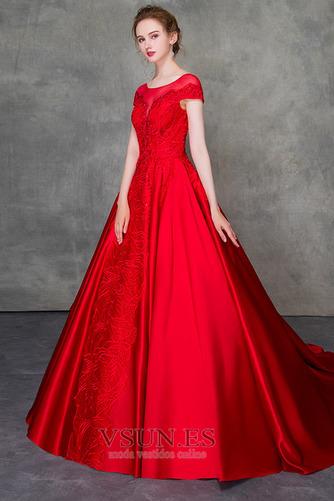 Vestido de novia Corte-A Triángulo Invertido Escote con Hombros caídos - Página 3