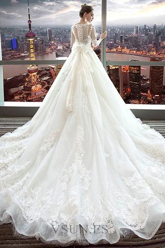 Vestido de novia Encaje Satén primavera Corte-A Formal Camiseta - Página 2