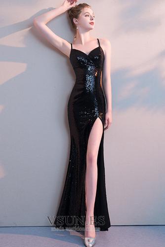 Vestido de fiesta sexy Frontal Dividida Escote de Tirantes Espaguetis - Página 2