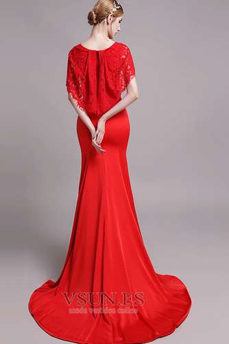 Vestido de noche Corte Sirena Falta Otoño Encaje Encaje Cola Barriba - Página 3