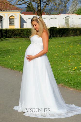 Vestido de novia Sin tirantes Embarazadas Imperio Imperio Cintura Sin mangas - Página 3