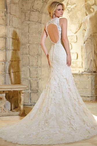 Vestido de novia Encaje Natural Corte Sirena Espalda medio descubierto - Página 2