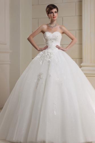 Vestido de novia Corte princesa Escote Corazón Elegante Cordón Apliques - Página 1