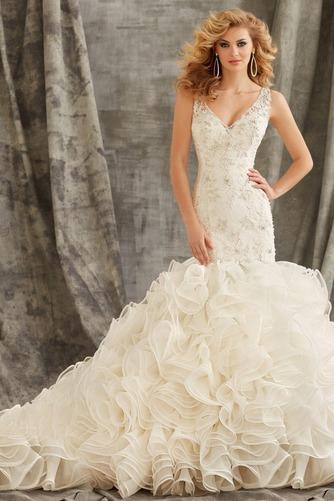 Vestido de novia Corte Sirena primavera Moderno Espalda medio descubierto - Página 1