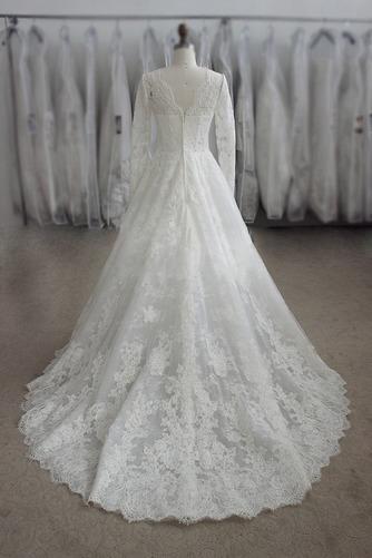 Vestido de novia largo Apliques Joya Cremallera Natural Iglesia - Página 2