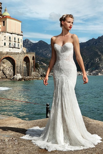 Vestido de novia Corte Sirena Encaje Encaje primavera largo Fuera de casa - Página 1