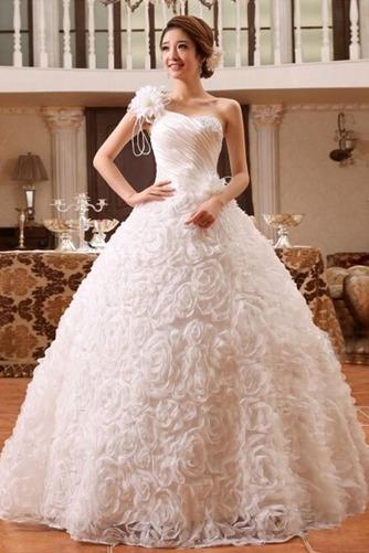 Vestido de novia Colores Sala Flores largo Un tirante con flor Sin mangas - Página 1