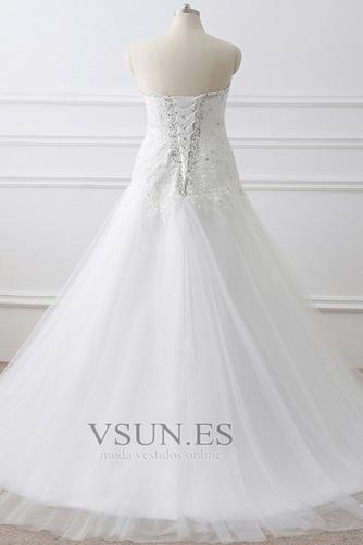 Vestido de novia Corte-A tul Cola Catedral Rectángulo Sin mangas Formal - Página 4