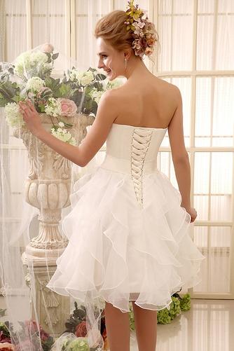 Vestido de novia Sin tirantes Fajas Hasta la Rodilla Satén Fuera de casa - Página 2