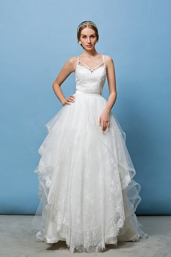 Vestido de novia Corte Recto Espalda Descubierta Glamouroso Escote de Tirantes Espaguetis - Página 2