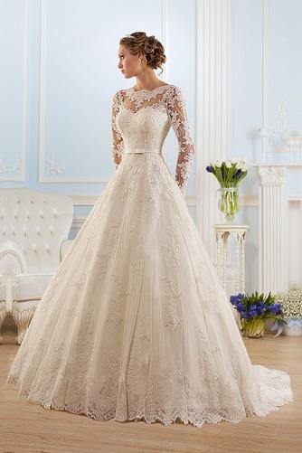Vestido de novia Corte princesa Espalda medio descubierto Encaje Natural - Página 1