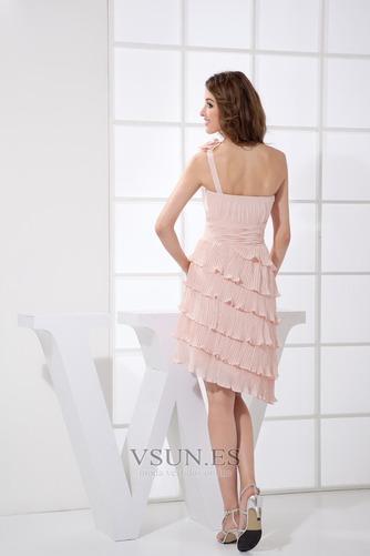 Vestido de dama de honor Asimétrico Estilo Falta Natural Espalda medio descubierto - Página 2
