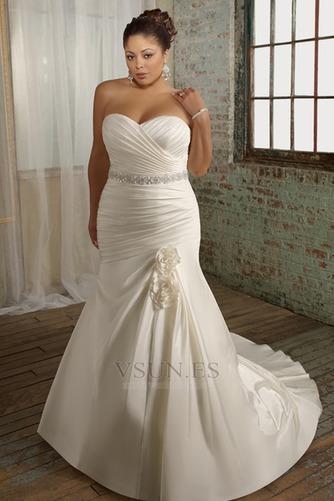 Vestido de novia 2015 Corte Sirena Sin mangas tafetán Escote Corazón - Página 1