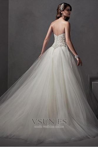 Vestido de novia Falta primavera Sala Sin mangas Apliques vendimia - Página 2