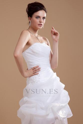 Vestido de novia informales Asimètrico Falta Blanco Espalda medio descubierto - Página 6