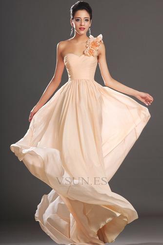 Vestido de fiesta Elegante Corte Recto Un sólo hombro Un tirante con flor - Página 2