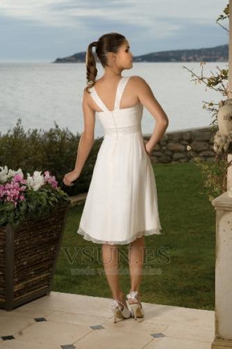 Vestido de novia Imperio Cintura Escote Cuadrado Verano Espalda medio descubierto - Página 2