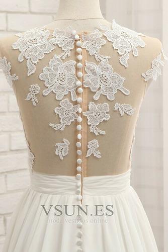 Vestido de novia primavera Apertura Frontal Natural Pura espalda Encaje - Página 6