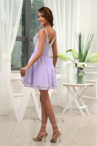 Vestido de cóctel Informal Cristal Tiras anchas Corte-A Falta Gasa - Página 2