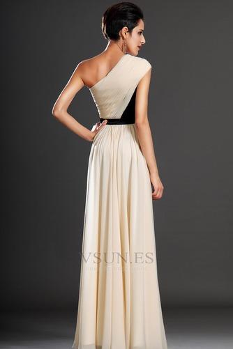 Vestido de noche Gasa Natural Corte-A Cintas Verano Asimétrico Estilo - Página 6