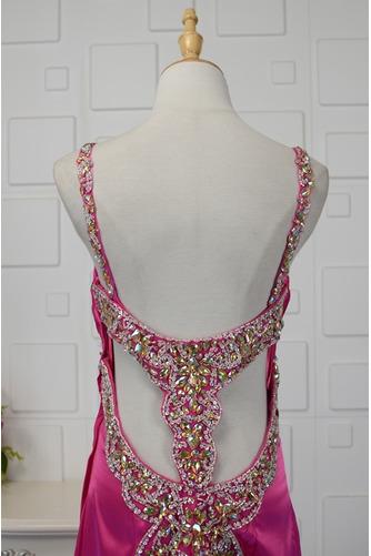 Vestido de fiesta primavera Satén Elástico Espalda Descubierta Plisado - Página 4