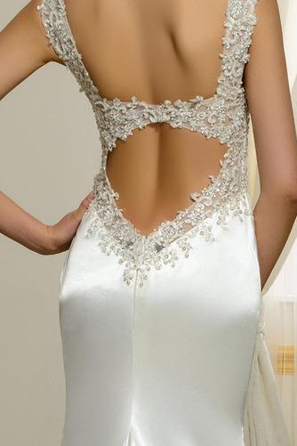 Vestido de novia Natural Corte Sirena Falta Espalda Descubierta Otoño - Página 4