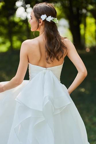 Vestido de novia Corte-A Cascada de volantes Sin mangas Reloj de Arena - Página 5