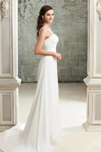 Vestido de novia Sencillo Imperio Encaje Espalda Descubierta Abalorio - Página 2