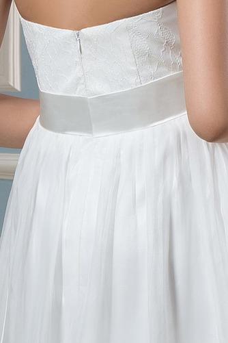 Vestido de novia Embarazadas Blusa plisada Escote halter Plisado Hasta la Rodilla - Página 5