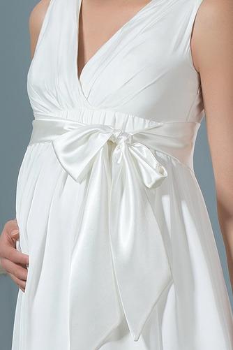 Vestido de novia Arco Acentuado Verano Gasa Drapeado Blusa plisada Hasta la Rodilla - Página 6