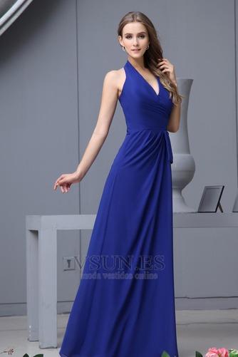 Vestido de dama de honor Hasta el suelo Elegante Espalda medio descubierto Invierno - Página 3