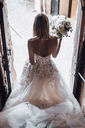 Vestido de novia Encaje Sin mangas Otoño Corte-A Escote Corazón Capa de encaje - Página 2