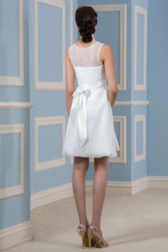 Vestido de novia Playa Drapeado Natural Corte-A Sin mangas Glamouroso - Página 2