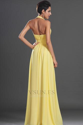Vestido de noche primavera Espalda medio descubierto sexy Amarillo claro - Página 7