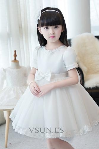 Vestido niña ceremonia Lazos Corte-A Natural Hasta la Rodilla Verano Arco Acentuado - Página 4