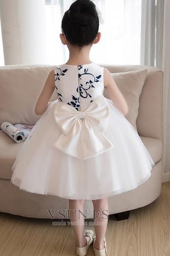 Vestido niña ceremonia Bordado Sin mangas Corte-A Hasta la Rodilla Natural - Página 2