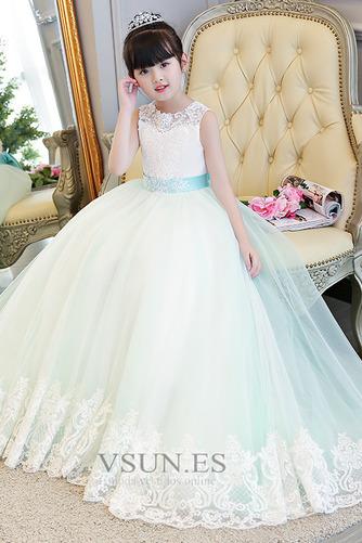 Vestido niña ceremonia Formal Espalda con ojo de cerradura Falta Otoño Arco Acentuado - Página 4