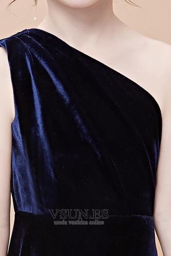 Vestido niña ceremonia Invierno Un sólo hombro Falta Natural Cola Barriba - Página 5