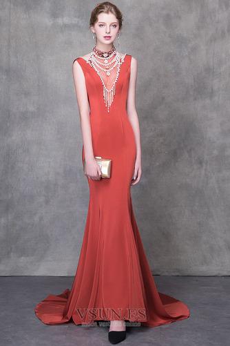 Vestido de noche Natural Elegante Otoño Escote con cuello Alto Satén - Página 1